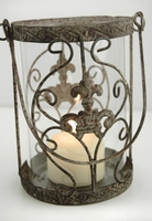 "Metal & Glass Juliet 6"" Candle Holder or Vase"