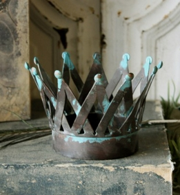 Vintage Metal Slat Crown