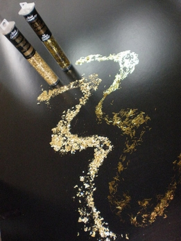 Metallic Gold Sprinkles and Gold Dust 2 tubes