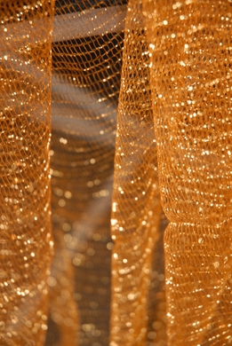 "Metallic Tulle Netting Antique Gold 32"" x 3 yards"