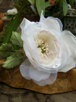 Millinery Flower, Seashell Pearl Silk Rose, Garden Wedding