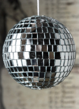 Mirror Ball Ornament 4in