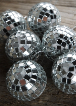 Mirror Ball Ornaments 2in (6 Balls)