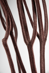 "Mitsumata Branches Natural Branch with Brown Velvet 48"" (3 branches)"