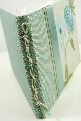 Molly West English Garden Silk Embroidered Guest Book