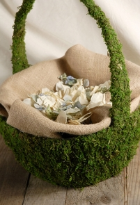 Moss Baskets with Handle 13 x 15""