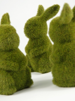 Moss Covered Bunnies 6-3/4""