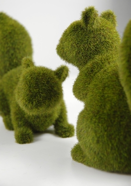Moss Covered Squirrels (set of 2 squirrels) set
