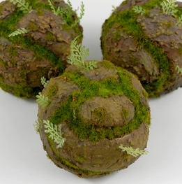 "Moss Dirt Balls 4"" Artificial"