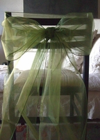 Moss Green Organza Chair Bows (Pack of 10)