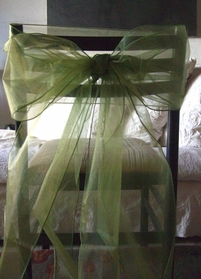 Organza Chair Bows in Moss Green (Pack of 10)