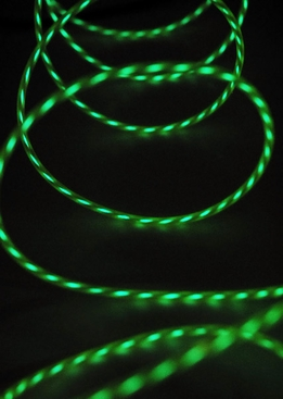 Motion Chasing El Wire Lime Green Battery Operated 3.2mm x 6 feet/ 2 yards