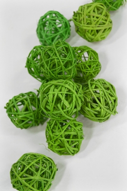 "Natural 2"" Twig Balls Lime Green (12 balls/pkg)"