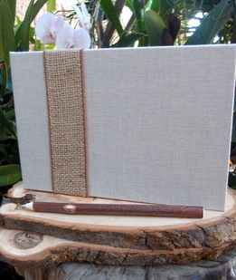 Natural Burlap & Linen Guest Book Registry