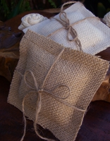 Natural Burlap Ring Bearer Pillow