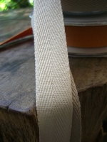 "Natural Cotton Twill Ribbon 3/4"" wide 9 yards"