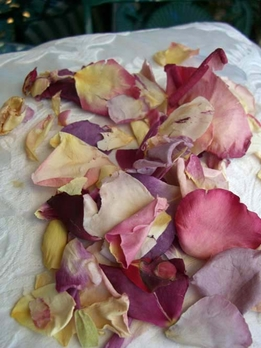 Assorted Natural Rose Petals Freeze Dried (5 cups)