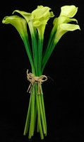 "Natural Touch Bouquet Green Calla Lily 14"" (12 flowers)"