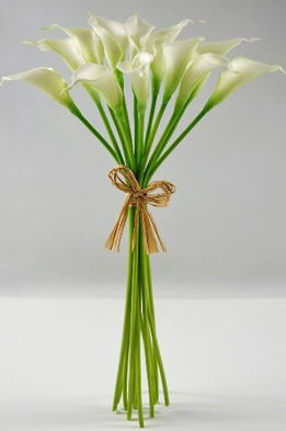 Real Touch Calla Lilies (Bouquet of 12 flowers)