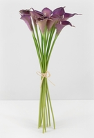 Natural Touch Calla Lilies Purple Bouquet (12 Flowers)
