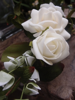 Natural Touch Wedding Rose Corsage