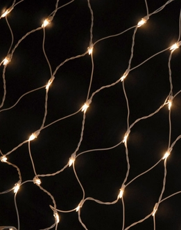 Net Lights White Wire 6ft