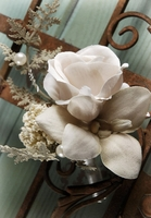 Nosegay Bouquet Vintage Rose, Orchids, Tallow & Pearls