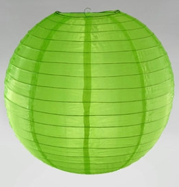 Nylon Lanterns Bright Green 18""