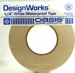 "Oasis 1/4"" White Waterproof Tape 60 yards"
