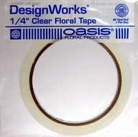 "Oasis Water Resistant 1/4"" Clear Floral Tape 60 yds"