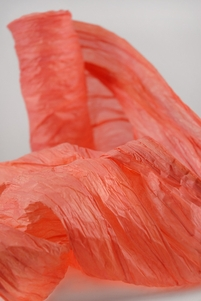 "Orange Paper Garland Ribbon 18"" x 5 yards"