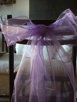 Orchid Organza Chair Bows (Pack of 10)