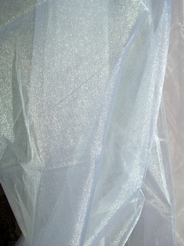 "Organza Fabric: Two Tone White Organza 54"" wide x 3 yards"