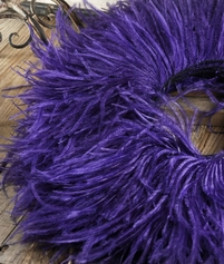 Purple Ostrich Feather Trim 5yds