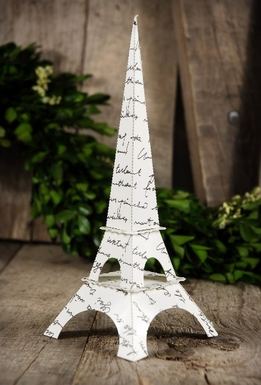 "Paper Eiffel Tower 7.5"" Tall (6 pieces)"