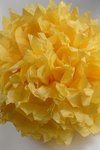 "Tissue Paper Pom Poms 16"" Yellow (Pack of 4)"