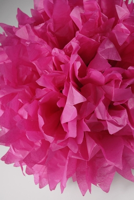 "Tissue Paper Pom Poms 16"" Fucshia (Pack of 4)"