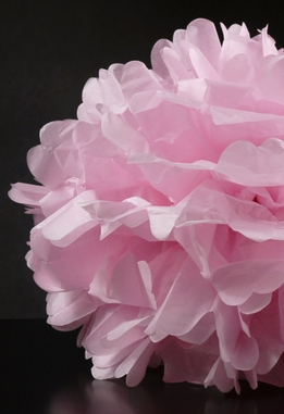 "Tissue Paper Pom Poms 16"" Pink (Pack of 4)"
