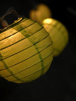 Paper Lantern Party String Lights | Green