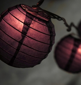 Paper Lantern Party String Lights | Purple