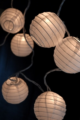 Paper Lantern Party String Lights | White