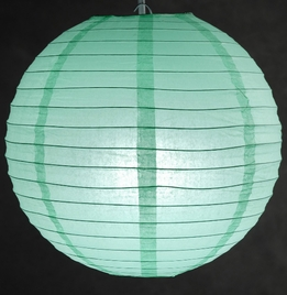 Paper Lanterns 12 in. Robins Egg Blue (Tiffany Blue) Paper Round Lantern