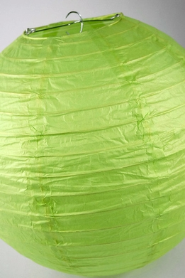 Paper Lantern Lime Green 12in