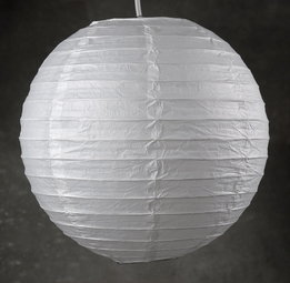 "Paper Lanterns 12"" White Ball Hanging Lantern"