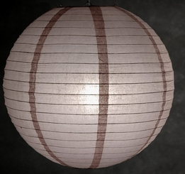 "Paper Lanterns 16"" Latte Brown"