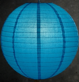 Paper Lanterns 20 in. Turquoise Blue