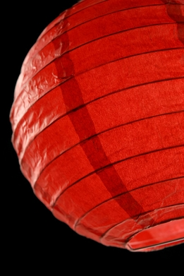 Paper Lanterns 8 in. Red Round