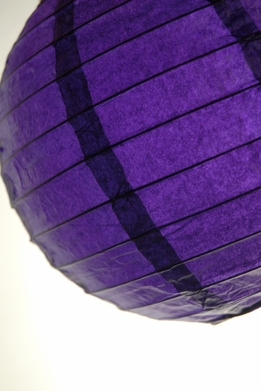 "Paper Lanterns 8"" Purple Round"