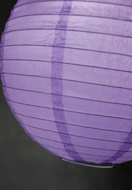 "Paper Lanterns 8"" Round Purple"