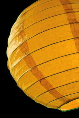 "Paper Lanterns 8"" Yellow Round"
